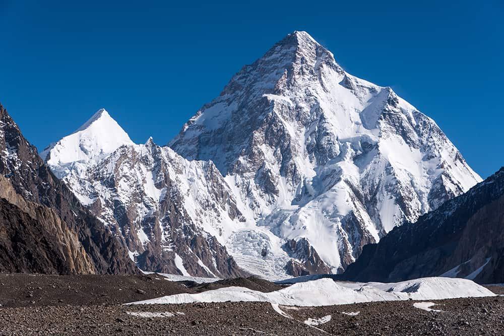 K2 (K2 Dağı), 8,611 metre, Pakistan-Çin, Asya