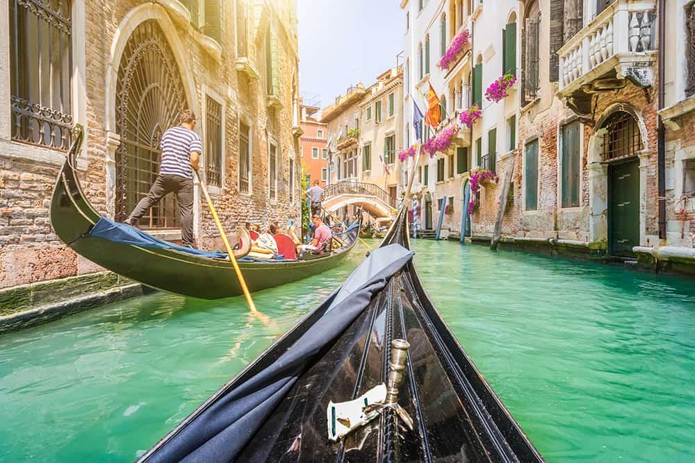 Venedik, İtalya Gondol Romantik