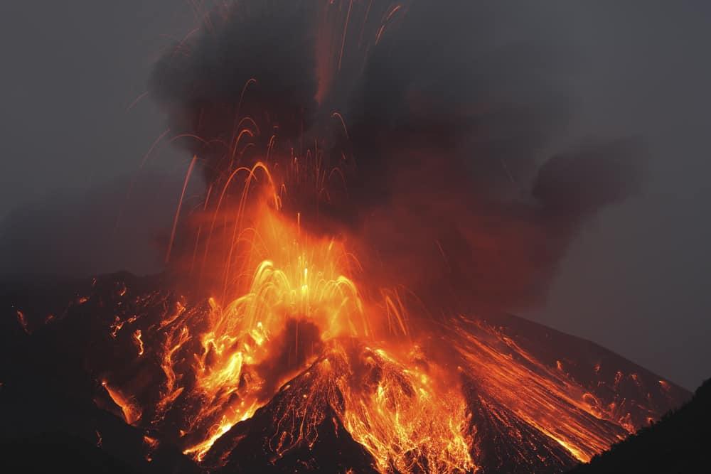 Sakurajima Patlama