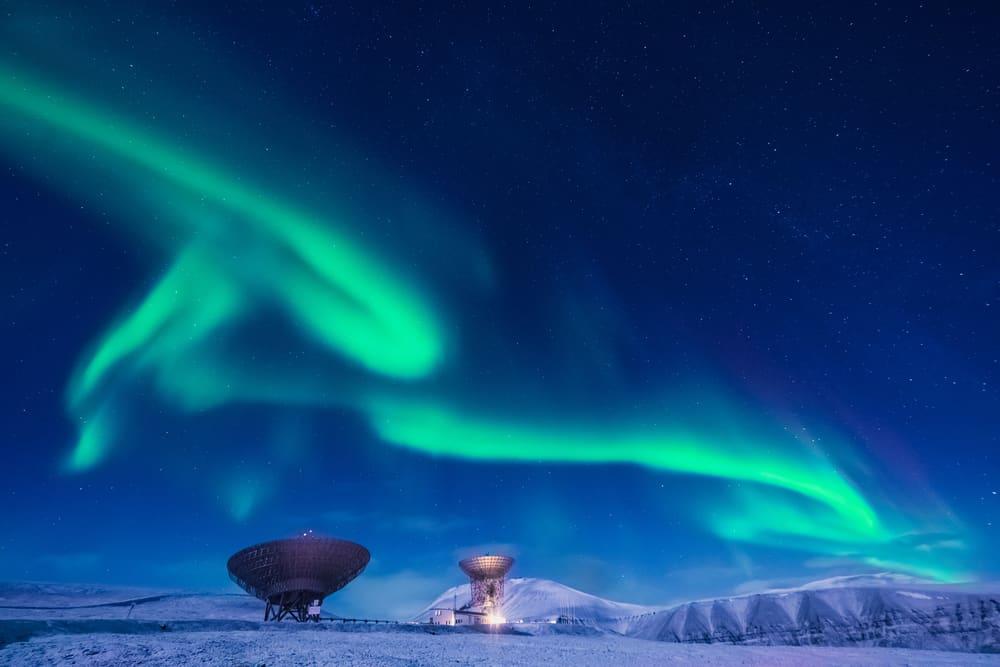 Svalbar, Norveç Kuzey Işıkları