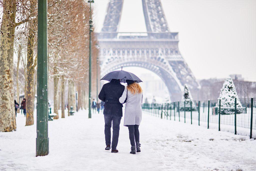 Paris, Fransa Kış