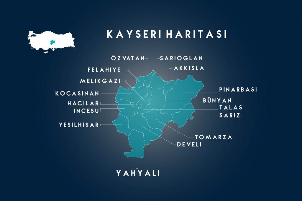 kayseri haritası