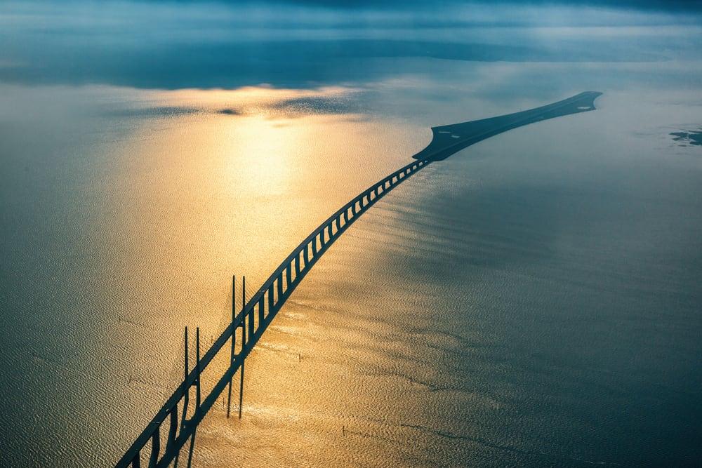 Öresund (Øresundsbroen) Köprüsü, Malmö, İsveç ve Danimarka