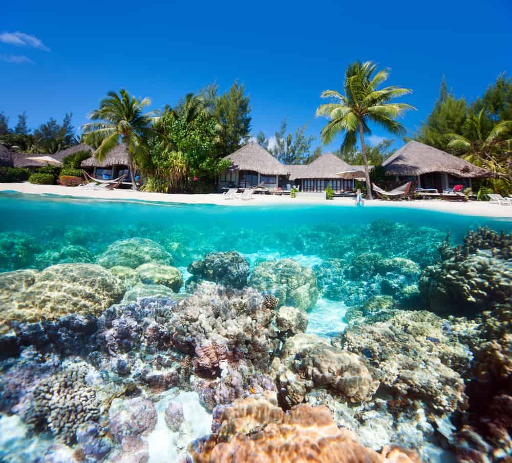 Mercan Plajı, Bora Bora, Fransız Polinezyası