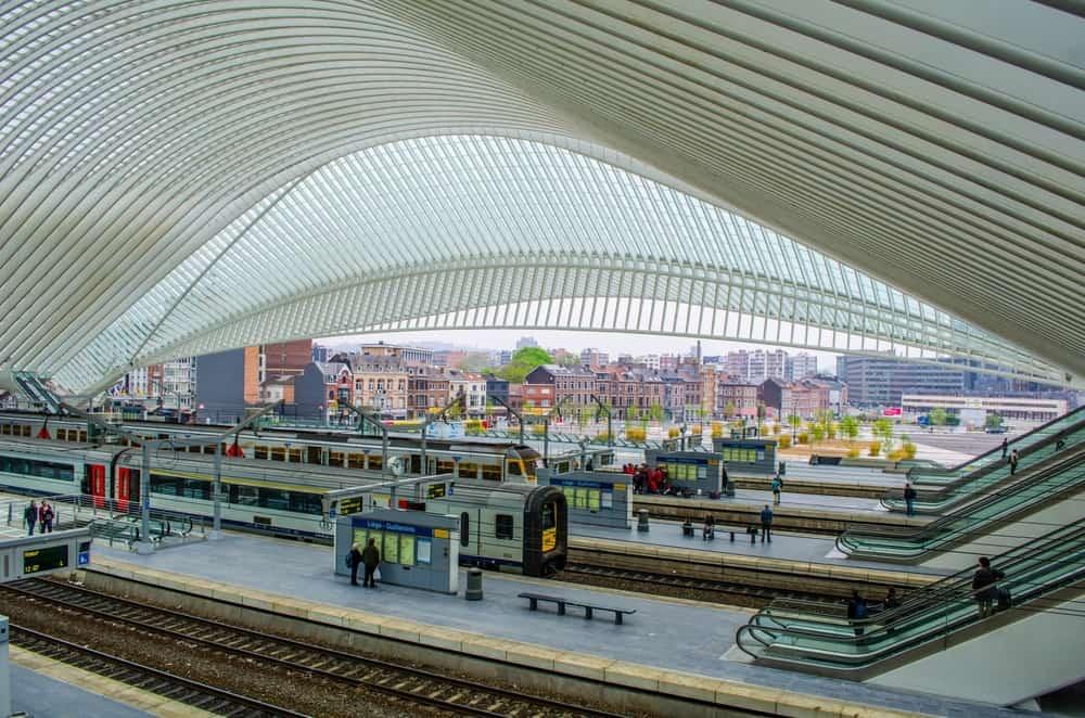 Liége-Guillemins Tren İstasyonu, Liege, Belçika