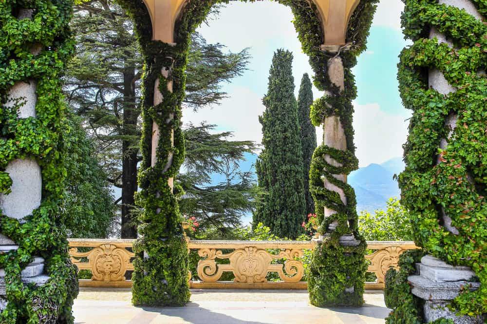 Villa Balbianello in Lenno, Como Gölü İtalya