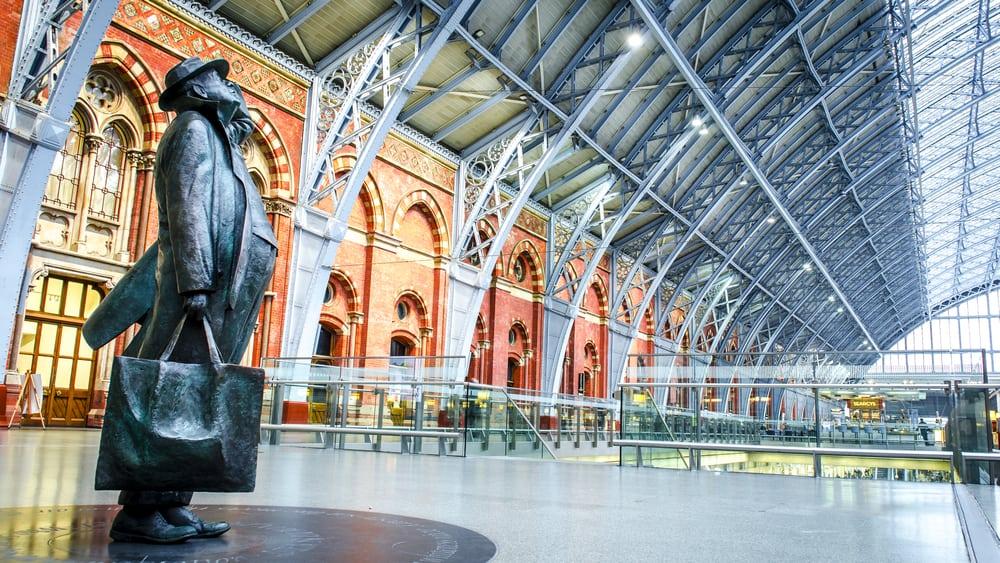 Pancras Uluslararası Tren İstasyonu, Londra, İngiltere
