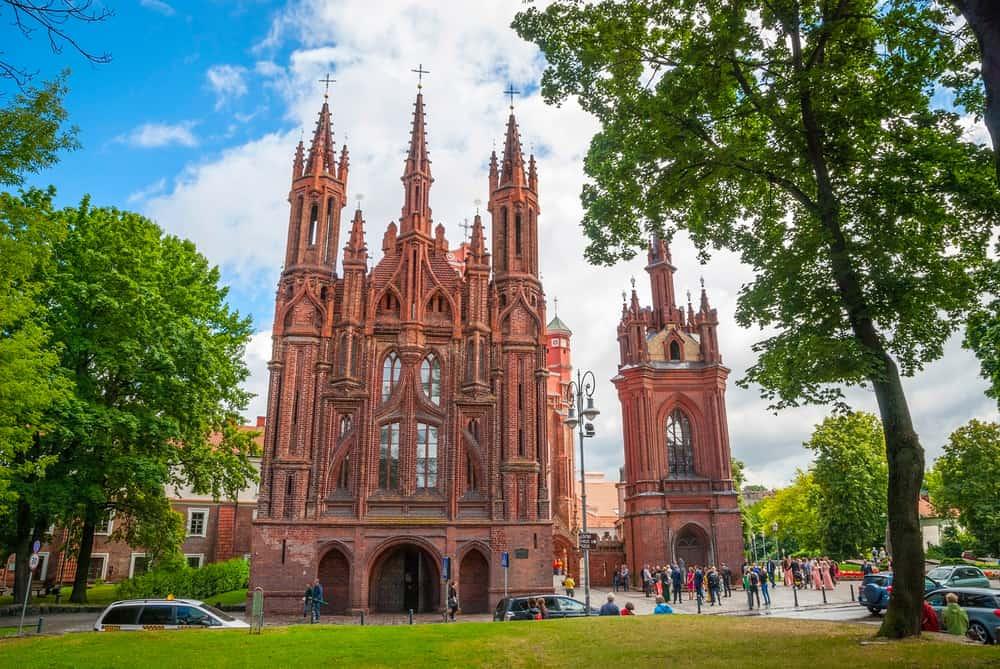 St. Anne Kilisesi Vilnius