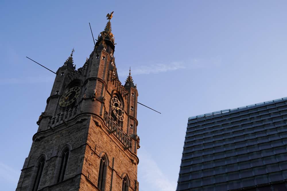 Het Belfort van Gent (Gent Çan Kulesi)