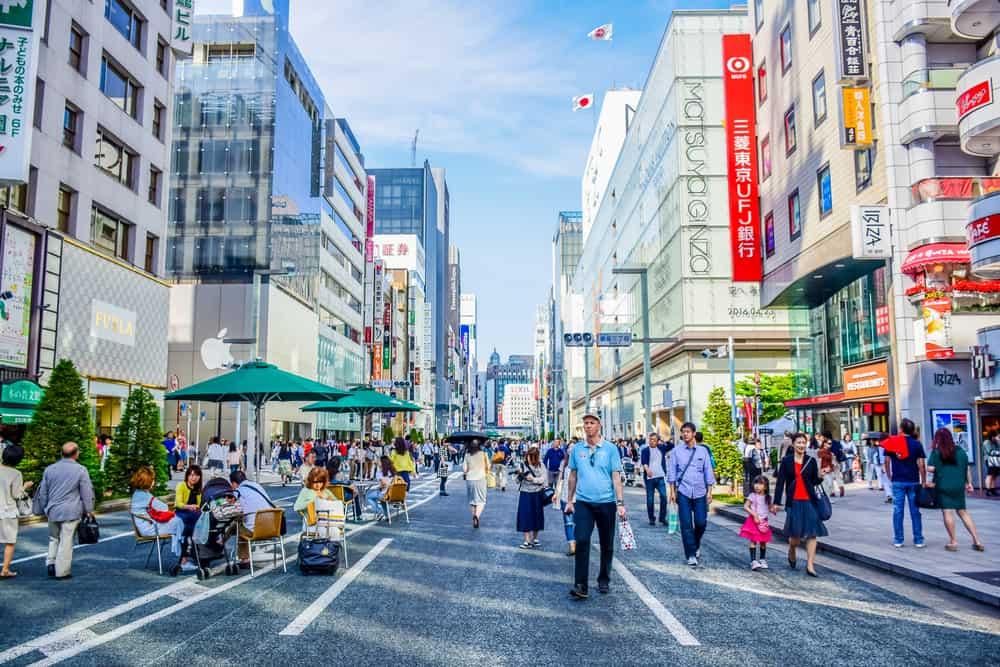 Ginza Caddesi, Tokyo, Japonya