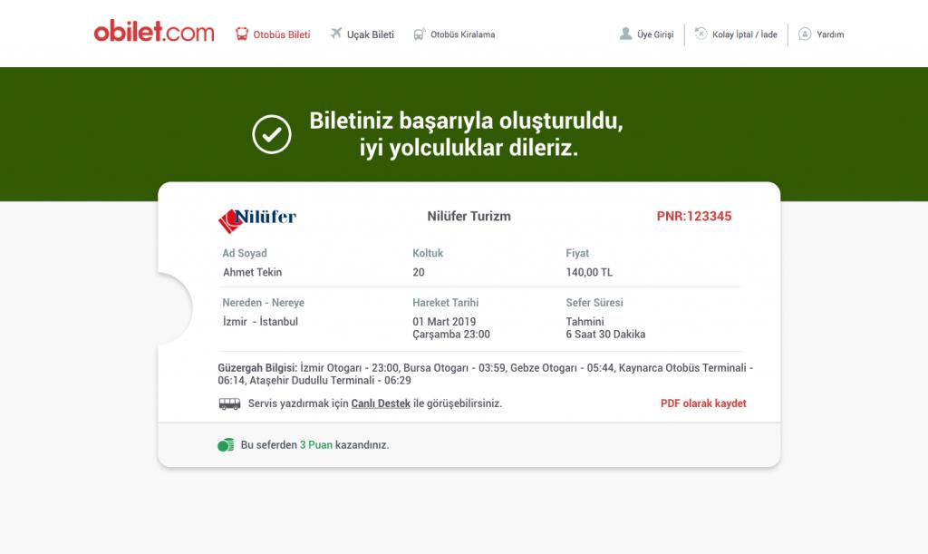 obilet.com bilet