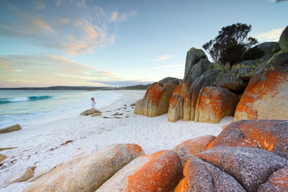 Bay of Fires Lodge Walk, Tazmanya, Avustralya