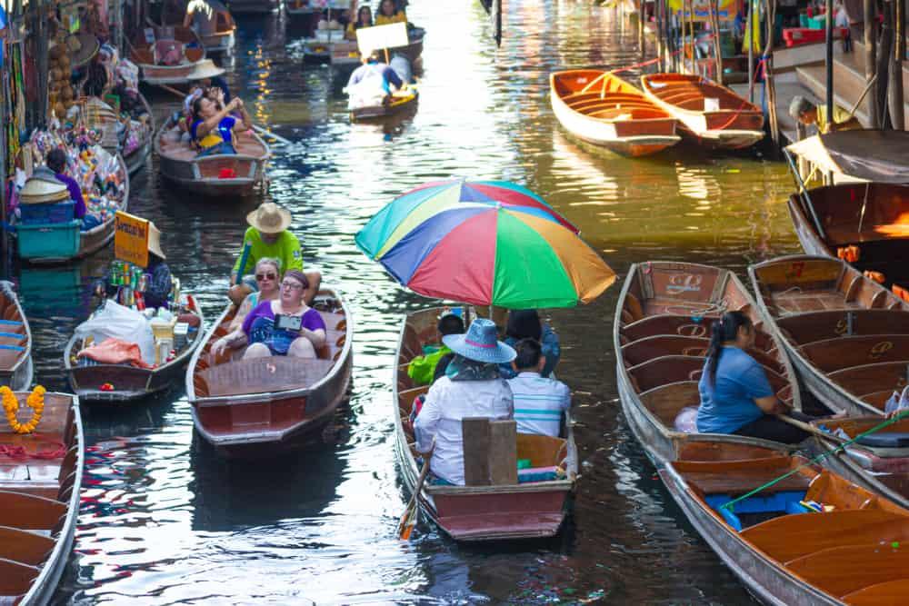 Yüzen Çarşılar (Floating Market) Bangkok