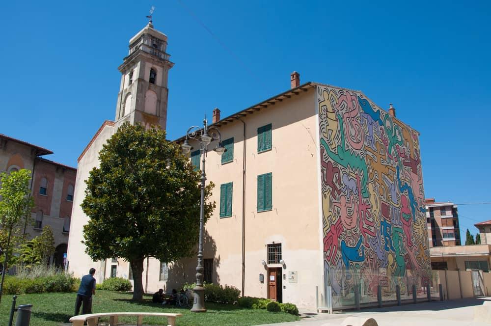 Keith Haring Duvar Resmi Pisa İtalya