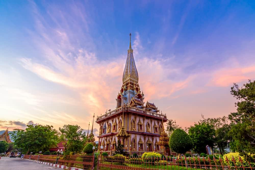 Wat Chalong Temple Bangkok Tayland