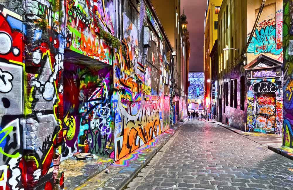 Hosier Lane Sanat Sokağı Melbourne Avustralya