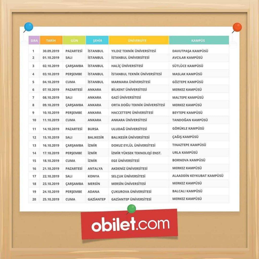 obilet.com Üniversite Etkinliği