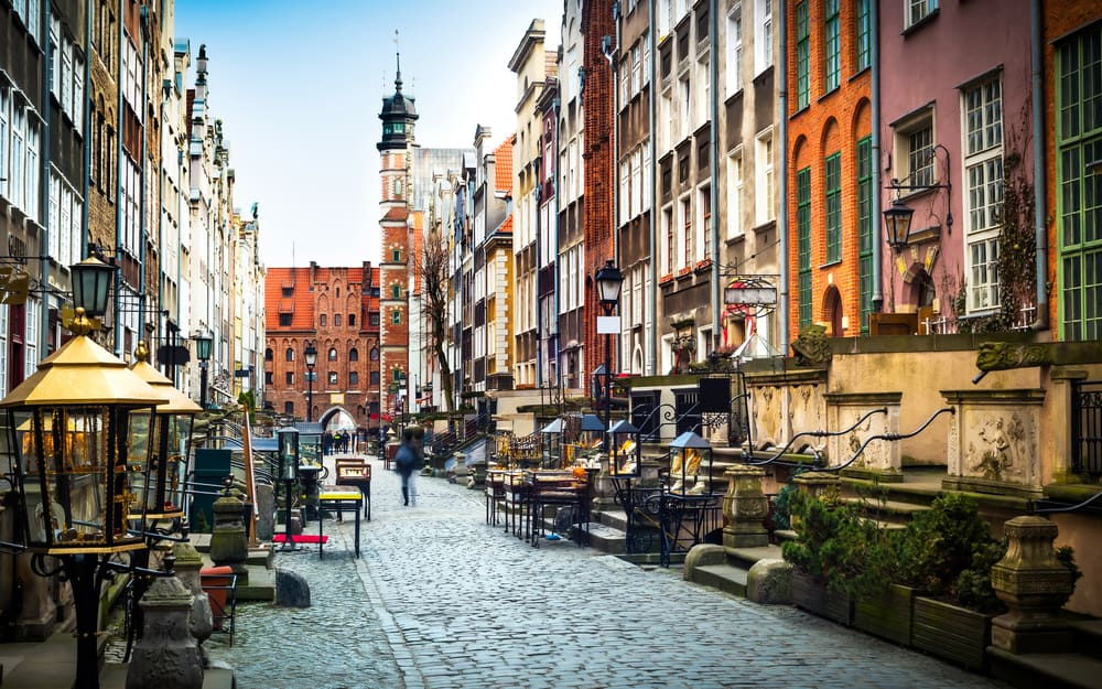 Mariacka Sokağı Gdansk Polonya