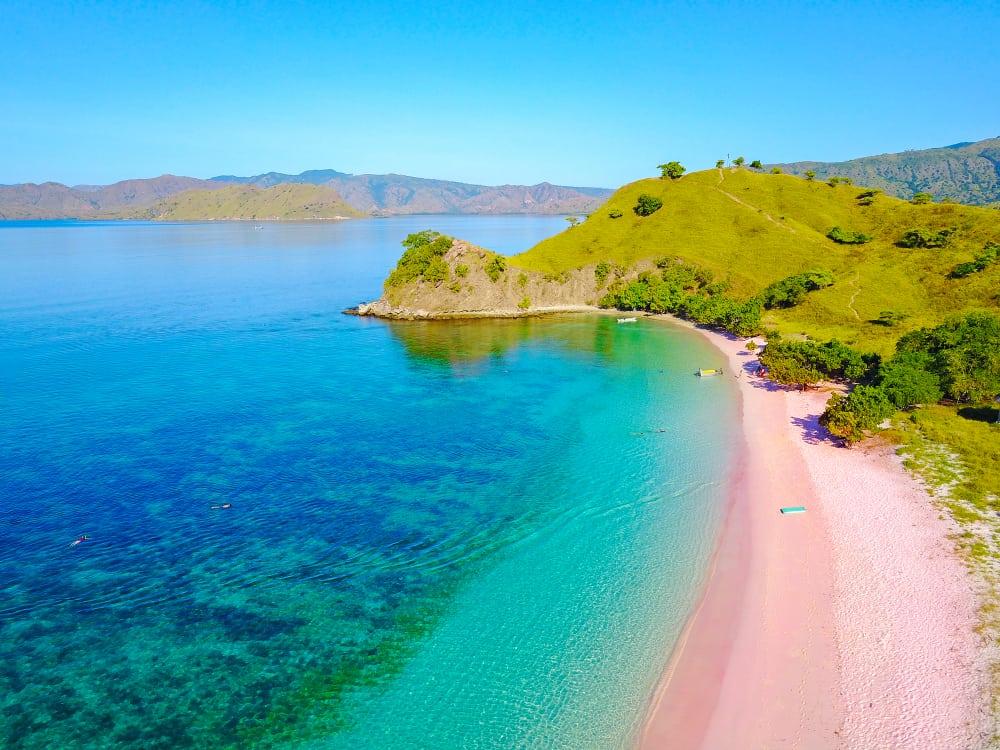 Pink Sands Plajı Nassau Bahamalar