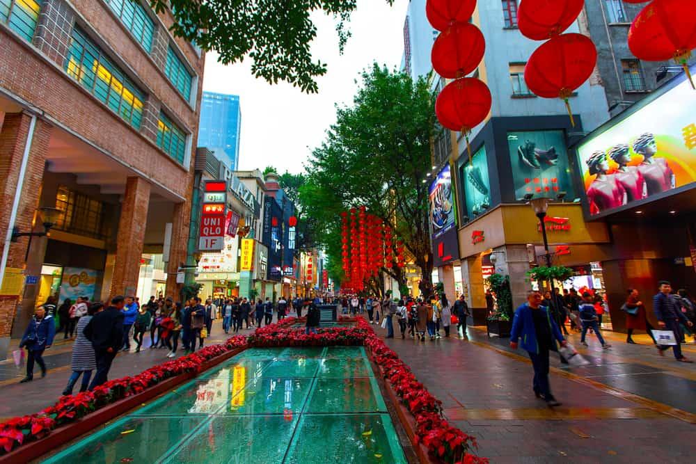 Pekin'de Alışveriş Xiushui Caddesi