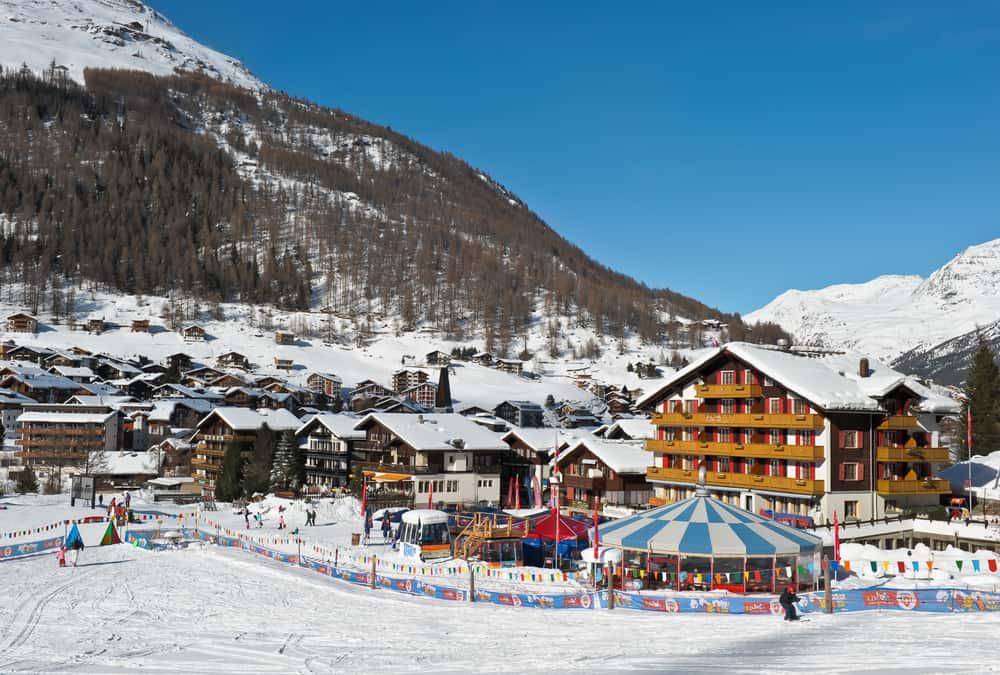 Saas-Fee Kayak Merkezi İsviçre