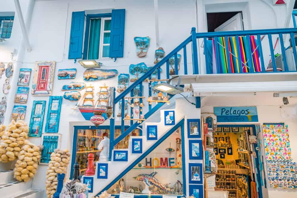 Mikonos'ta Alışveriş