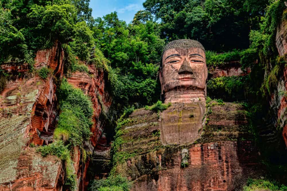 Leshan Dev Buda Heykeli Çin
