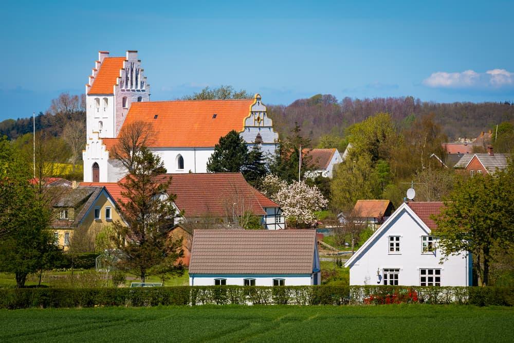 Odense Funen Köyü Danimarka