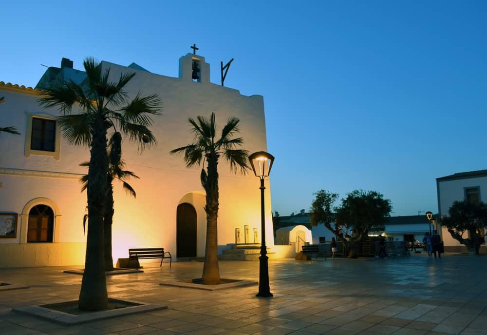 Formentera Adası Kilise İspanya