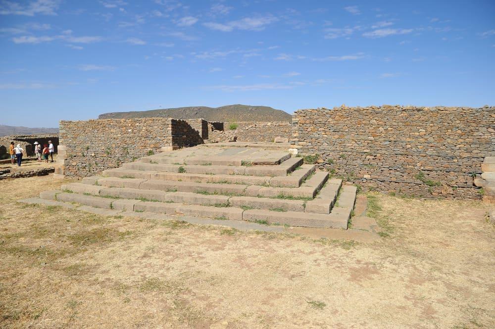 Kraliçe Sheba Sarayı Aksum Etiyopya
