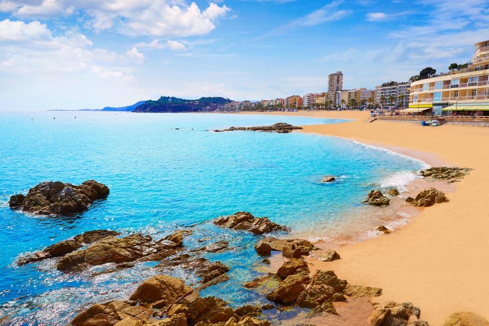 Lloret de Mar Sahili İspanya