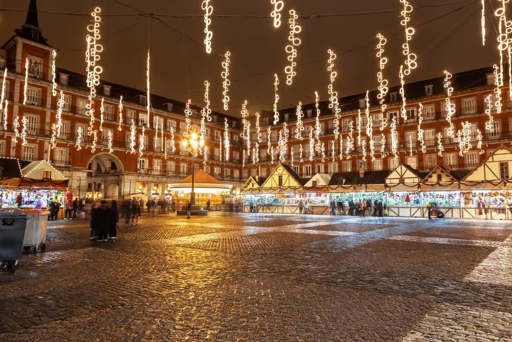 Madrid, İspanya Noel Pazarı