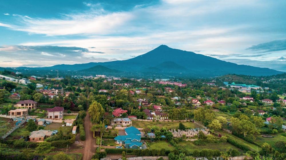 Meru Dağı Arusha Tanzanya