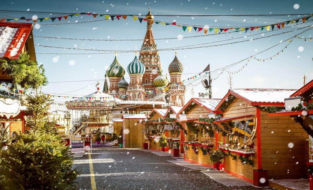 Moskova, Rusya Noel Pazarı