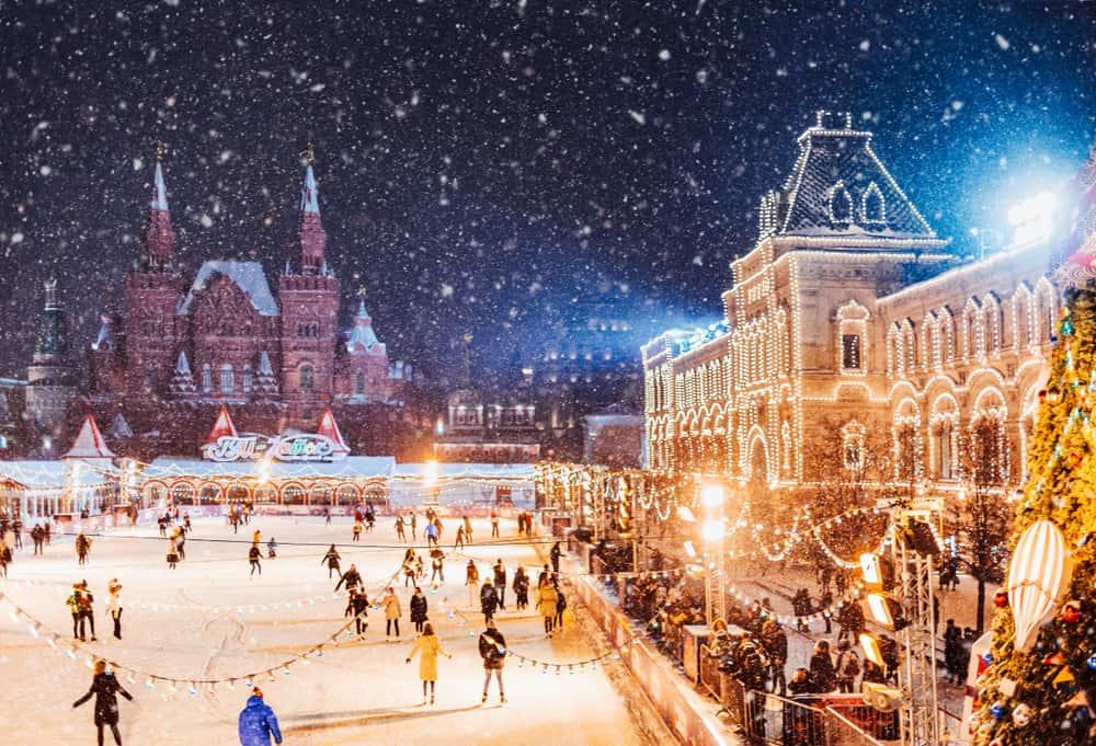 Moskova, Rusya Noel