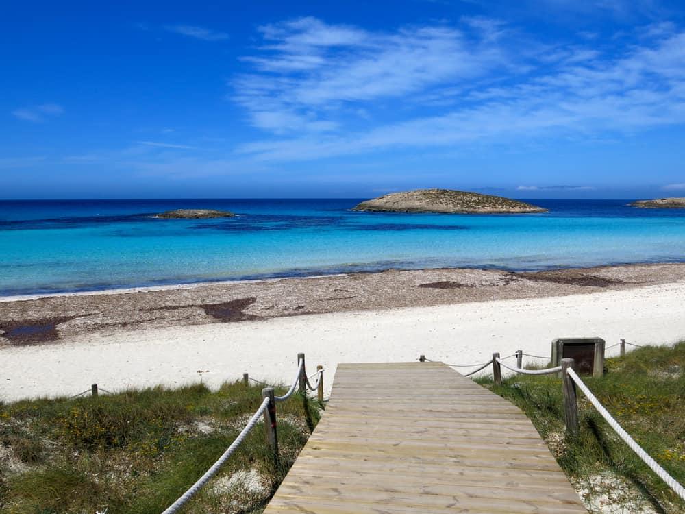 Ses Illetes Plajı Formentera Adası İspanya