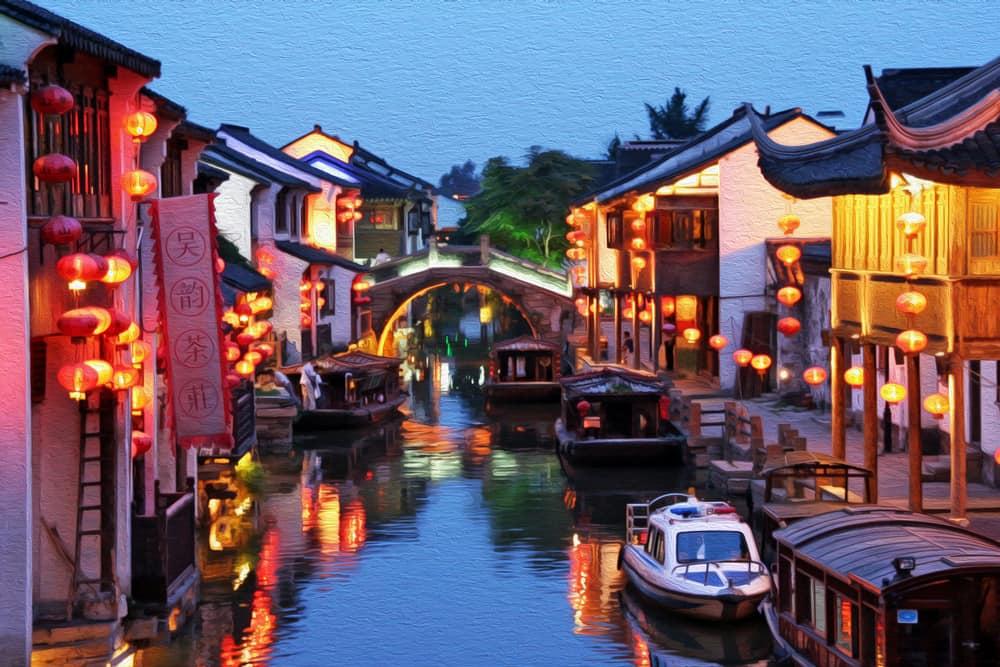 Suzhou'nun Klasik Bahçeleri Şangay Çin