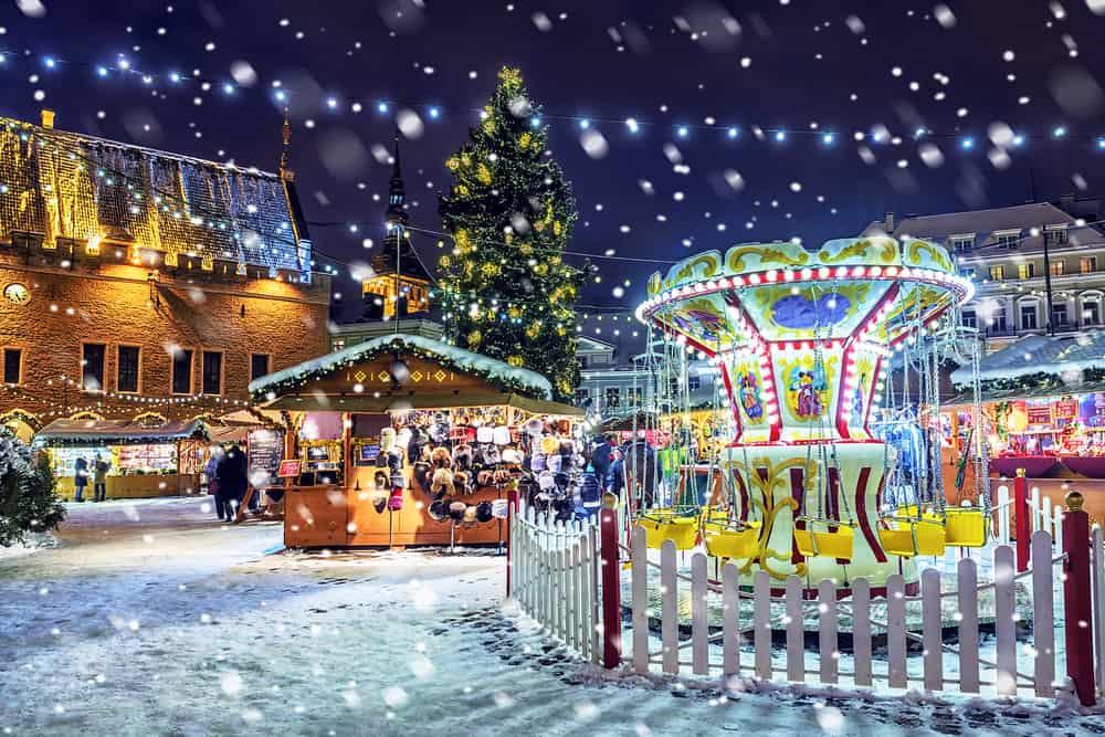 Tallinn, Estonya Noel Pazarı