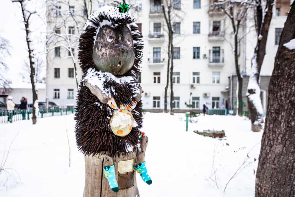 Kirpi Anıtı - Hedgehog Monument, Kiev