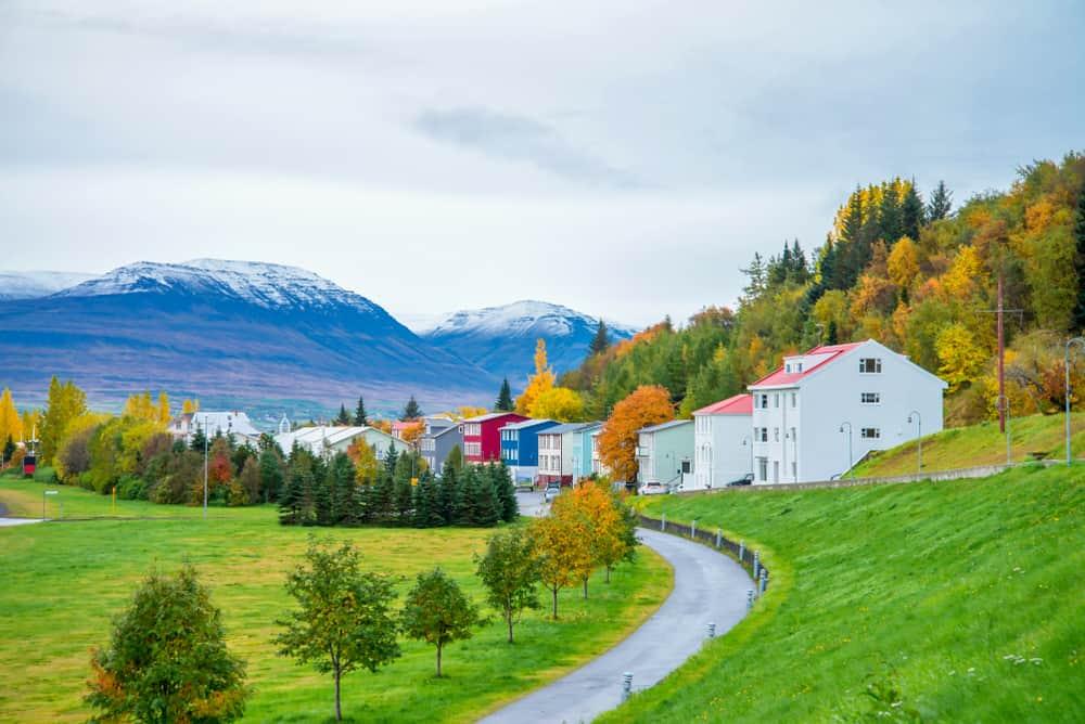 Akureyri Evleri İzlanda