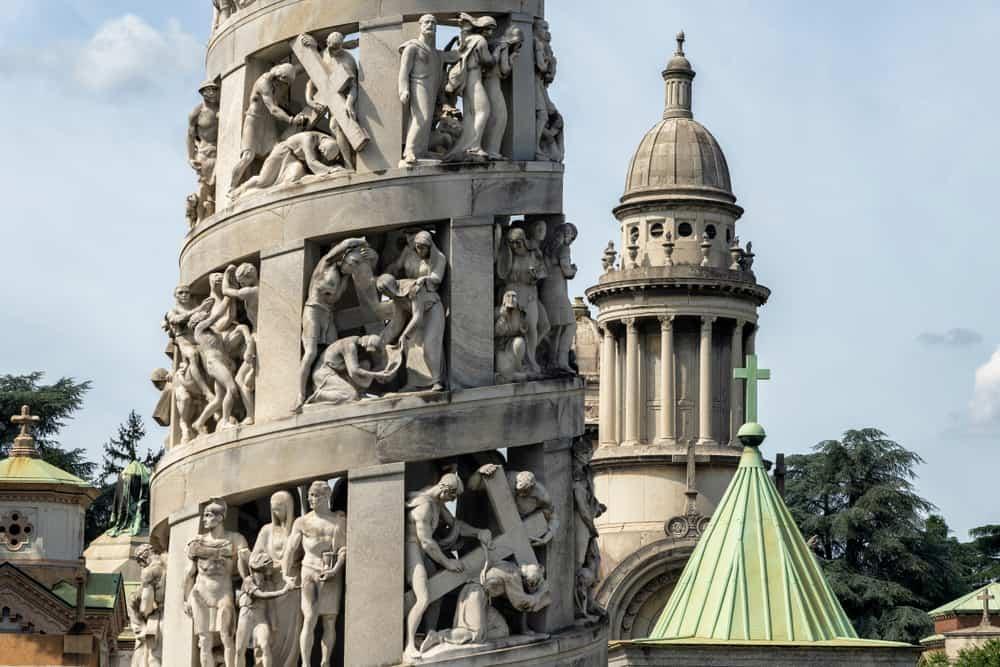 Cimitero Monumentale (Mezarlık) Heykel Milano
