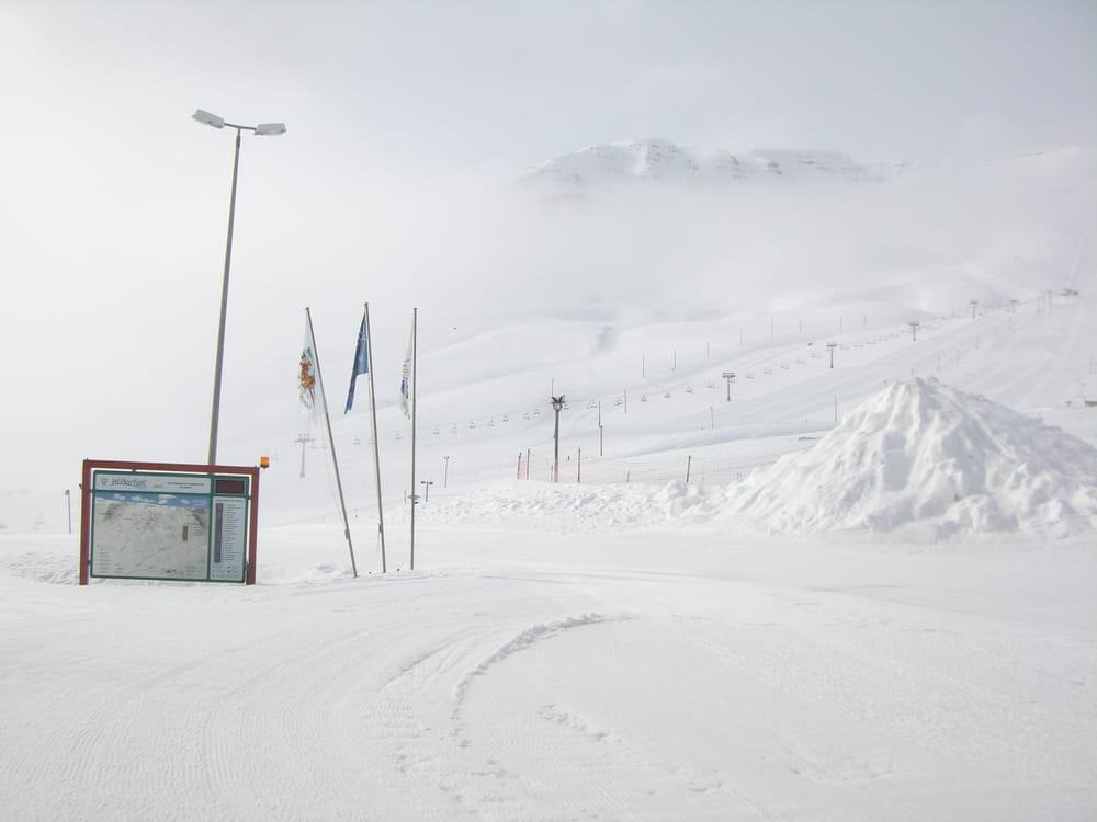 Hlidarfjall Kayak Merkezi Akureyri İzlanda