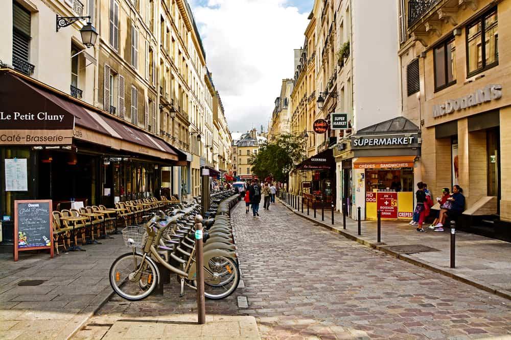 Latin Mahallesi Sokakları Paris Fransa