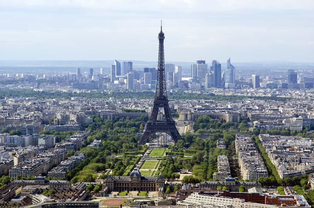 Le Champ de Mars Parkı Paris Fransa