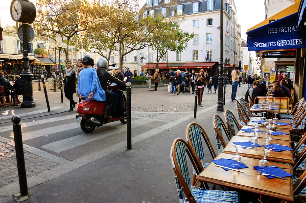 Mouffetard Caddesi Paris Fransa