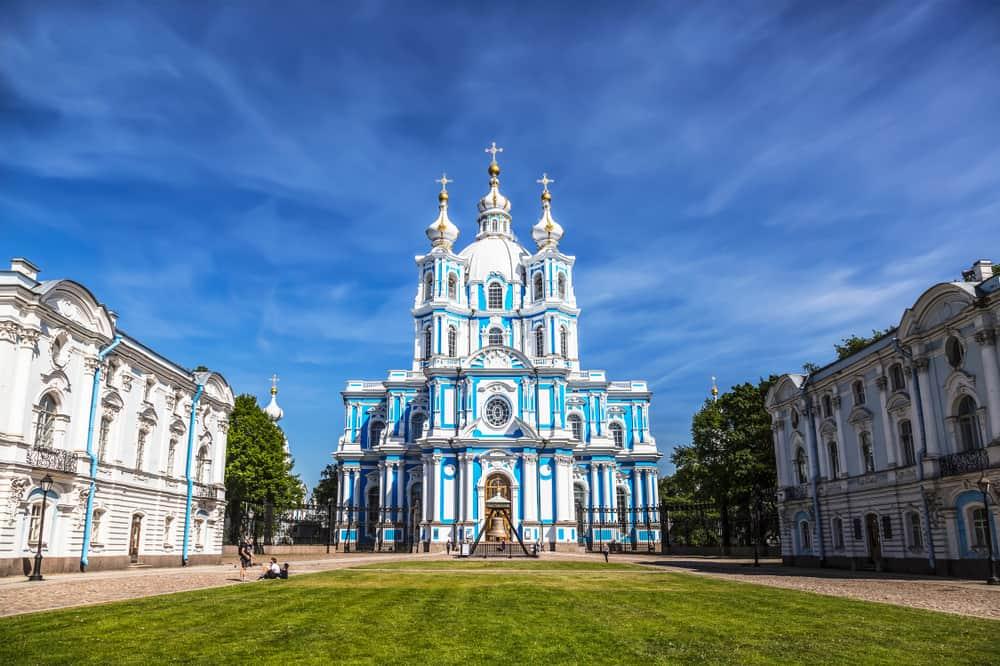 Smolny Katedrali St. Petersburg Rusya