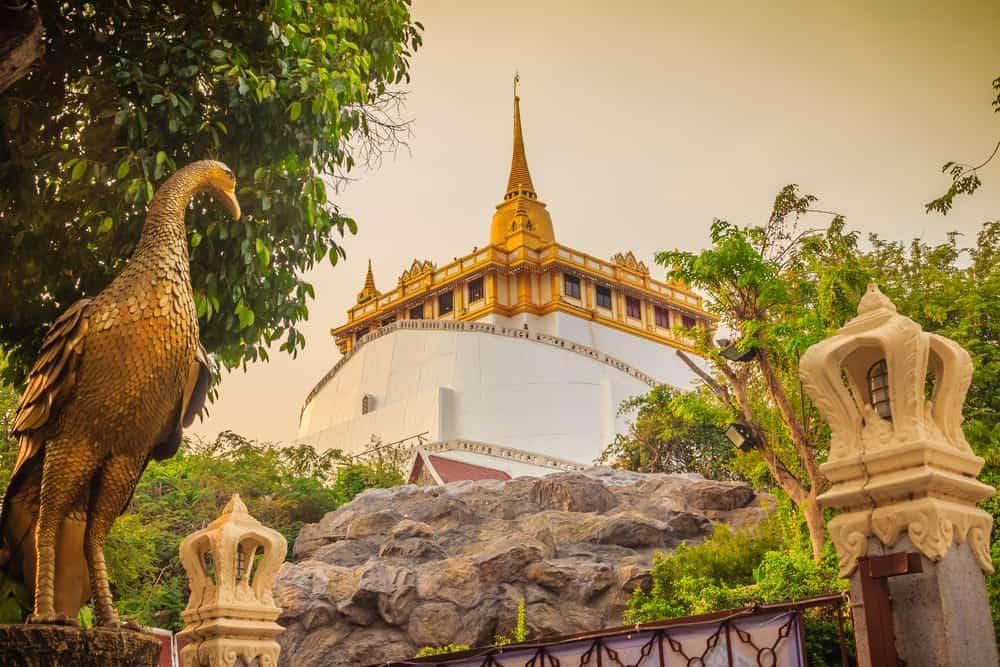 Bangkok Tayland Wat Saket Tapınağı