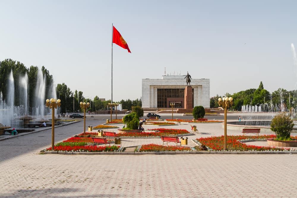 Bişkek Kırgızistan Ala Too Meydanı