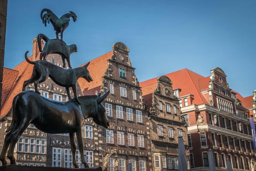 Bremen Mızıkacıları Heykeli – Bremen, Almanya