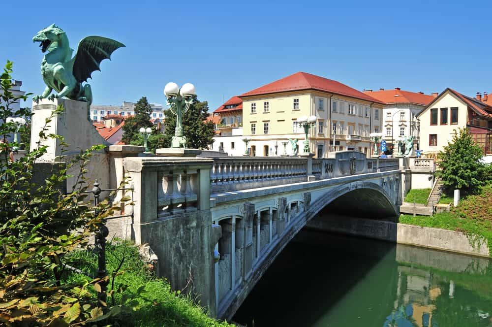 Ejderha Köprüsü Ljubljana Slovenya